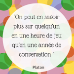 citation platon jeu